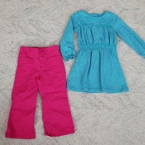2t Dress & Pink pants